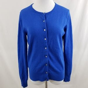 Ann Taylor Sweaters - Ann Taylor Blue Wool Blend Cardigan sz medium